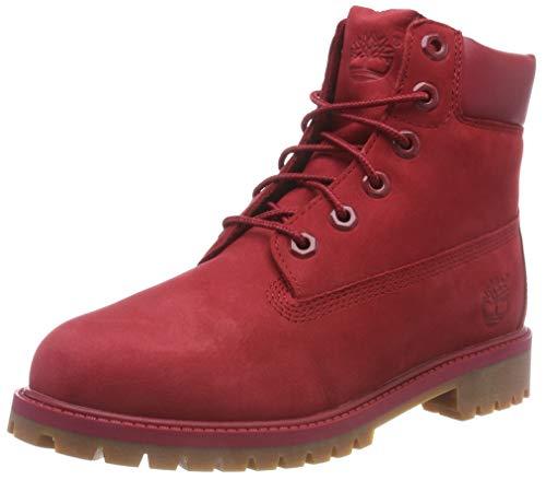Timberland Unisex-Kinder 6 in Premium Waterproof Klassische Stiefel Rot (Medium Red Nubuck) 40 ()