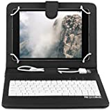 OME- Funda tablet con teclado para Samsung Galaxy Tab A 9.7 pulgadas modelo SM-T550 con OTG y MicroUsb-Negro