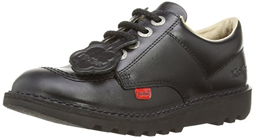 Kickers Kick Lo J Core Unisex - Child Derby Lace - Ups - Black, 2.5 UK (35 EU)