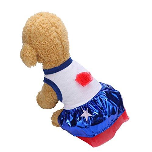 Linlink Niedliches Kleiderkleid des Haustierkatzenhundefelsenmädchens, Weiche und Bequeme Art und Weise süße Sommerparty, Kleid der Amerikanischen Art