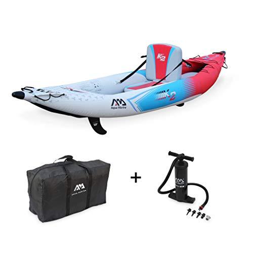 Alice\'s Garden - Canoe Kayak hinchable, 1 persona, 3,12 m + mochila + inflador