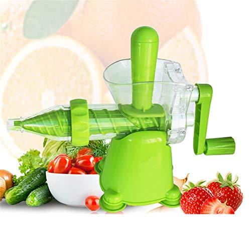 YAzNdom Handentsafter Juicer Handbuch Weizengras Juicer Kohl Spinat Petersilie Obst und andere grüne Blattgemüse Hochwertiger Entsafter für die Küche (Farbe : Grün, Größe : Free Size)