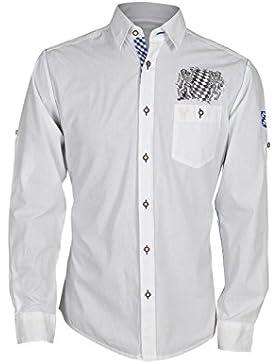 Krüger - Herren Trachtenhemd in weiß/blau, Bayern (94113-1)