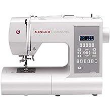 SINGER Confidence - Máquina de coser (Gris, Blanco, Máquina de coser automática,