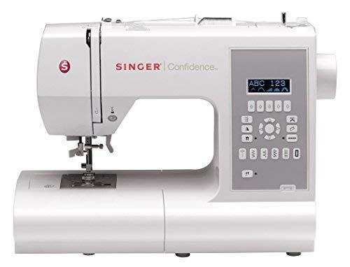 SINGER Confidence - Máquina de coser (Gris, Blanco, Máquina de coser automática, Costura, 1 paso, Variable, LCD)