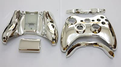 Xbox 360 Chrome Silver Replacement Controller Shell