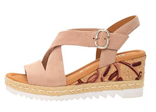 Gabor 22-831 Damen Sandalen Plateau Keil Sandaletten Weite G, Schuhgröße:38.5 EU, Farbe:Rosa