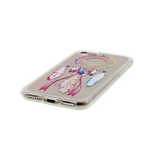 iPhone 7 Plus Custodia, Visualizza chiaro [ Totem ] Ultra sottil Silicone Cover Shell Semplice Progettato per iPhone 7 Plus Copertura (5.5 pollici), iPhone 7 Plus Case 5.5 - Totem / arancione colore 7