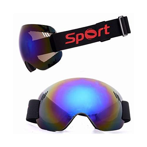Abellale Skibrille Schneebrille Bergsteigen Anti Fog Sanddicht Snowboard Brille für Männer Frauen mit Großer Sphärische Linse Blau (Electric Damen Snowboard Brille)