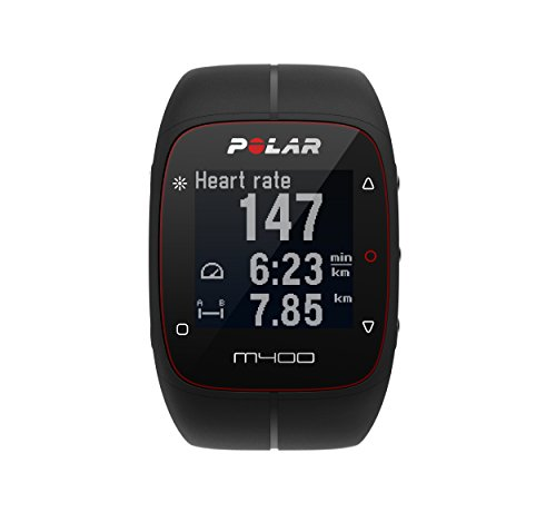 POLAR Unisex M400 GPS Watch With Heart Rate Monitor Black One Size
