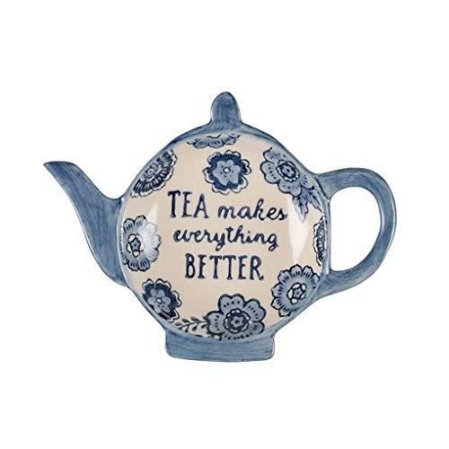 Blau Floral Tea Lovers Tee Tasche Gericht -