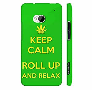 Htc One M7 ROLL UP AND RELAX designer mobile hard shell case by Enthopia