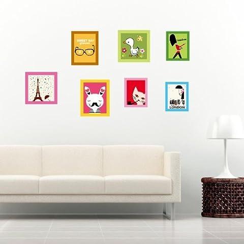 Modello Bello Del Fumetto Decorazione Adesivi Stickers Murali In Pvc