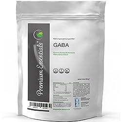Gamma-Amino-Buttersäure (GABA), 180g reines Pulver + Dosierlöffel á 500mg, pharmazeutische Qualität, für 60 Tagesportionen a 3000mg