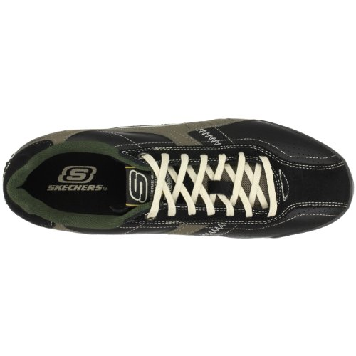 Skechers Ascoli Piceno 50984 WBR Herren Sneaker Schwarz/BKNT