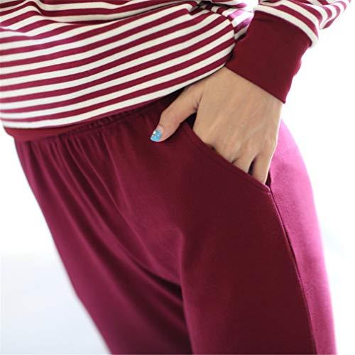 RGHOP Fabrik Lager Großhandel Herbst Winter Warme Dicke Baumwolle Pyjamas Langarm Mit Brust Pad Cup EIN Home Suit Weiblich, A, M -