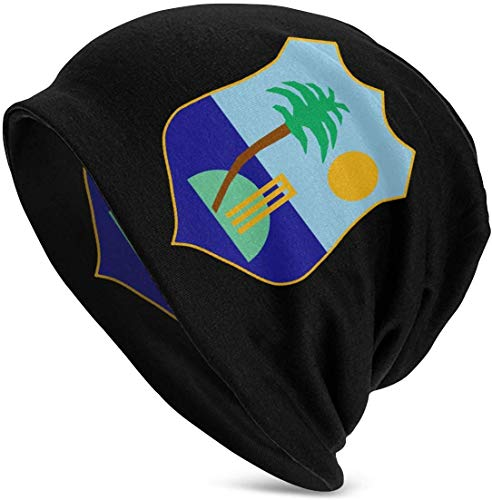 Voxpkrs West Indies Cricket Board Flag Adults Soft Slouchy Beanie Hats Daily Long Baggy Skull Cap Cool 37687