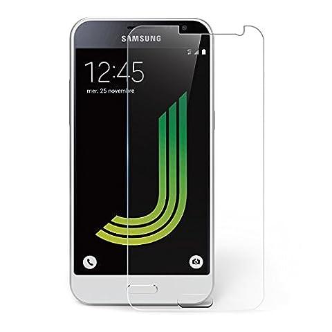 Samsung Galaxy J3 Protection écran, AICEK Film Protection Ecran en Verre Trempé Haute Transparent Invisible pour Galaxy J3 2016 Anti-rayures,HD,Sans Bulles ,Dureté 9H