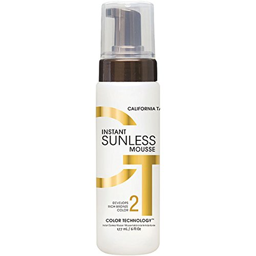 Sunless Selbstbräuner Lotion (California Tan Instant Sunless Mousse A Rich Bronze Colour 177ml)