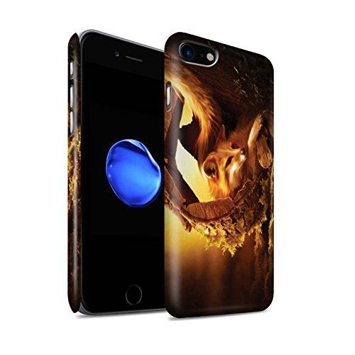 Officiel Elena Dudina Coque / Clipser Matte Etui pour Apple iPhone 8 / Le Brave/Chaton Design / Les Animaux Collection Jacinthe