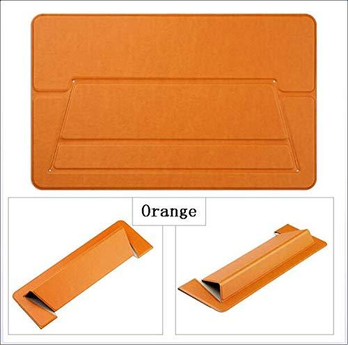 CICIN Tragbarer, Verstellbarer Stealth-Laptop-Ständer, Faltbarer, schlanker, Rutschfester, ergonomischer Notebook-Ständer mit Sockel für die Kühlerhöhe,Orange