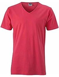 JAMES & NICHOLSON - t-shirt manches courtes cintré - col V - JN912 - homme