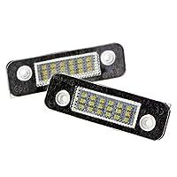 Kalttoy 2Pcs 12V 18 LED Car License Plate Light White Number Plate Lamps Light SMD for Ford Fusion for Mondeo/MK2 for Fiesta MK5