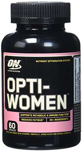 Optimum Nutrition Optiwomen- Multivitamin und Mineralien Tabletten (mit Vitamin D, Vitamin C, Vitamin A und Aminosäuren, Multivitaminen von ON) Unflavoured, 30 Portionen, 60 Kapseln
