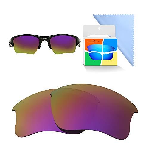 Oak&ban Spiegelpolarisierte Ersatzgläser für Oakley Flak Jacket XLJ Sonnenbrille, Verschiedene Optionen, mit Brillentuch, Herren, Purple - Polarized