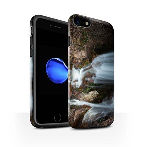 STUFF4 Glanz Harten Stoßfest Hülle / Case für Apple iPhone 8 / Felsig Strom Muster / Schottisch Landschaft Kollektion Kaskade