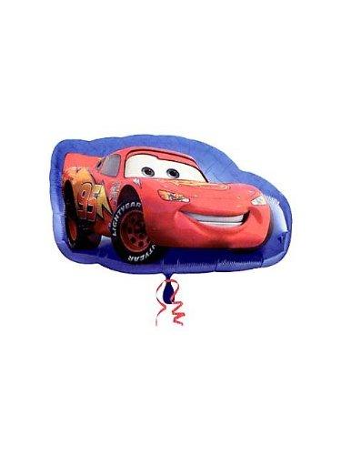 """Image of Cars Lightning McQueen Shape Giant 17"""" Foil Balloon"""