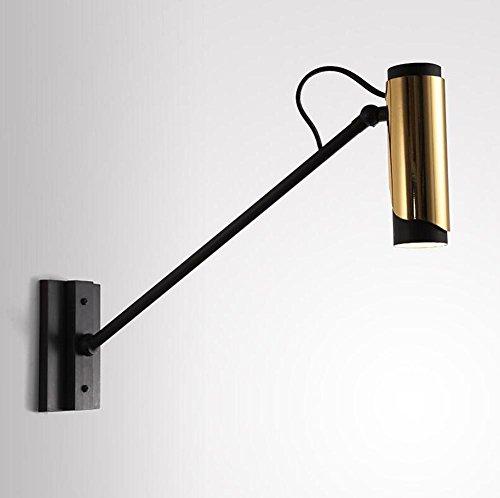 DENG Appliques Long pôle Culbuteurs réglables LED Moderne Abat-Jour Métal Industriel Intérieur Chevet Éclairage Fixation