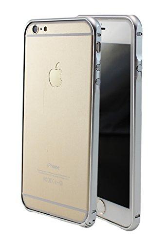 iPhone 66S 6Plus + slim CNC couverture étui coque Bumper Case en aluminium métal élégant cadre en aluminium avec coins acier frame en or gris argent rose argent