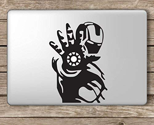 Iron Man Palm Center Avengers - Apple MacBook Laptop Vinyl Sticker Decal, Die Cut Vinyl Decal for Windows, Cars, Trucks, Tool Boxes, laptops, MacBook - virtually Any Hard, Smooth Surface