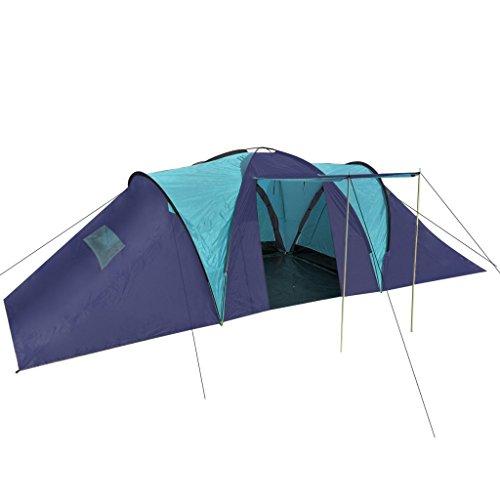 Festnight-Tent-Tienda-de-Campaa-Familiar-para-Camping-Tienda-para-9-Personas-Mximo-Azul-Azul-Oscuro