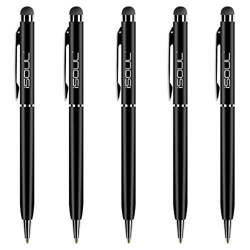 iSOUL Stylus Pen, Kompatibel mit iOS Android-Geräten, Stylus für iPhone iPad Galaxy Huawei OnePlus Smartphones Tablet Kapazitiver Stift aktiver Stift ultrafeine Spitze Kugelschreiber Mobile Stylus Pen