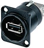 Eurosell USB Buchse für Einbau in Tisch KFZ Auto etc. ! Female 2.0 Durchgangsgerätebuchse