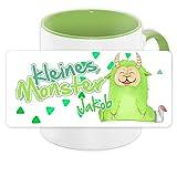Tasse mit Namen Jakob und Motiv - Kleines Monster - für Jungen | Keramik-Tasse grün | Kinder-Tasse