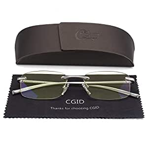 Unisex Lightweight Rimless Frameless Rectangle Reading Glasses Mens Womens Spring Hinge Fashion Readers Reading Glasses +1.00