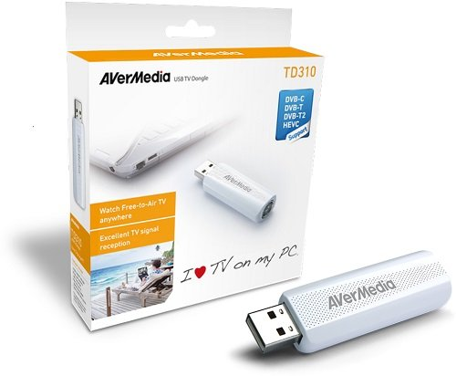 AVerMedia TD310 DVB-T/T2 TV-Tuner USB Dongle externer TV-Empfänger