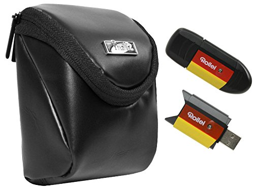 Foto Kamera Tasche Intercept L Leder Set mit USB Card Reader