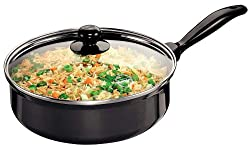 Futura Non-Stick Saute' Curry Pan with Glass Lid, 3.25 Litres