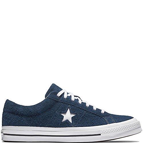 Herren-solo-star (Converse Unisex-Erwachsene Lifestyle One Star Ox Suede Fitnessschuhe, Blau (Navy White 410), 41 EU)