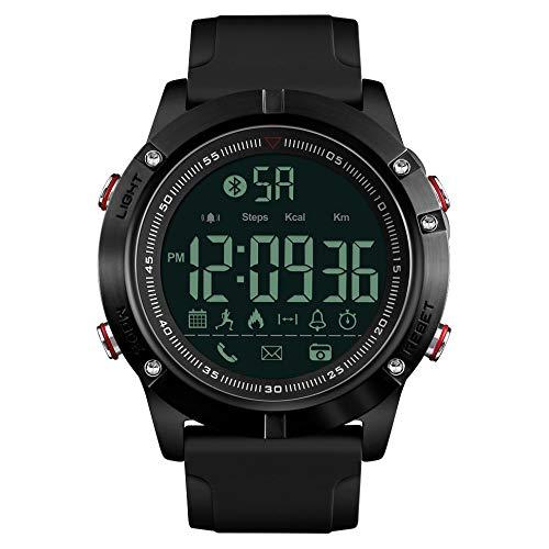 BlackEdragon Im Freien elektronische PU-Sport-Uhr Multifunktionsart- und weisesport-PU-Gurt-Männeruhr Im Freiensport-Doppelanzeige PU