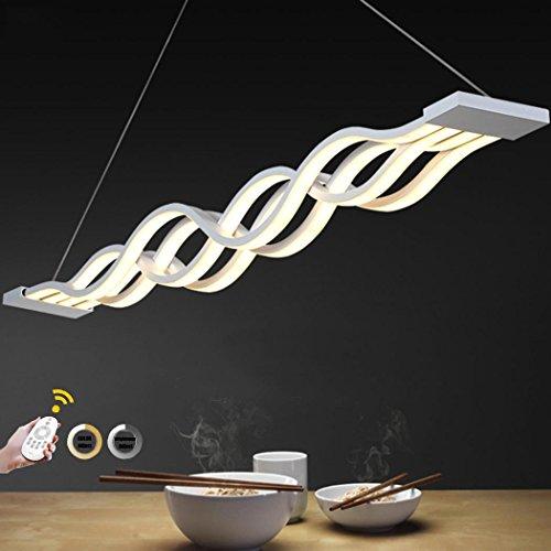 WEITING Ferngesteuertes DimmenHeight Justierbares L100cm Neues kreatives modernes LED-hängendes Licht-Wellen-hängende Lampe Esszimmer Wohnzimmer-hängende Hauptbeleuchtung