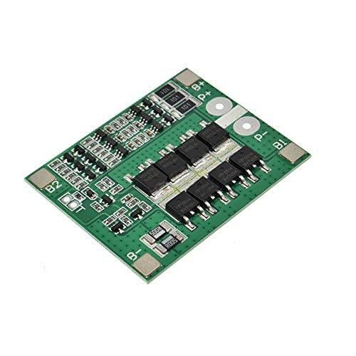 Pudincoco 3S 12V 25A Li-Ion Lipo-Akku 18650 Board Ladegerät Schutzzelle Lademodul Elektronische BMS Packs PCM mit Balance (grün)