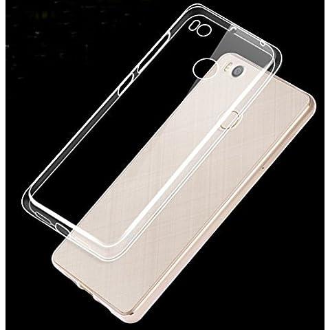 Prevoa ® 丨XIAOMI MI4S Funda - Transparent Silicona TPU Carcasa Funda Case cover para XIAOMI MI4S 4G 64bit 5.0 Pulgada Smartphone - Transparent