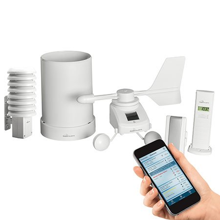 ELV Mobile Alerts Wetterset MA10061 (Temperatur, Luftfeuchte, Regen und Wind) + Thermo-/Hygrosensor (Repeaterfunktion für Windmesser)