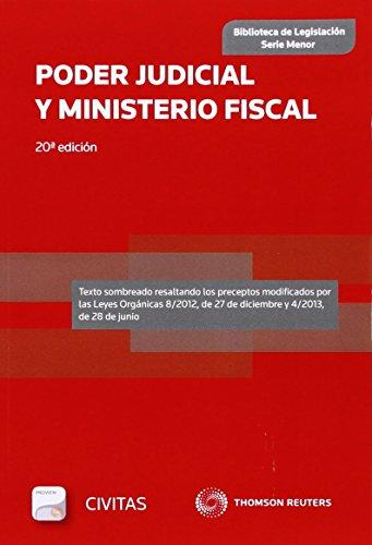 Poder Judicial y Ministerio Fiscal (Papel + e-book) (Biblioteca de Legislación - Serie Menor) por Departamento de Redacción Civitas