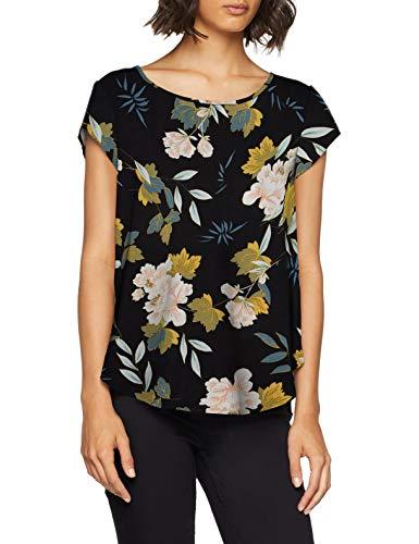ONLY NOS Damen ONLVIC SS AOP TOP NOOS WVN Bluse, Mehrfarbig (Black Faye Flower), Large (Herstellergröße: 40)